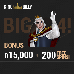 New South African Online Casino - King Billy - Play in Rands