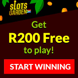 Click Here to Get R200.00 Free at Slots Garden